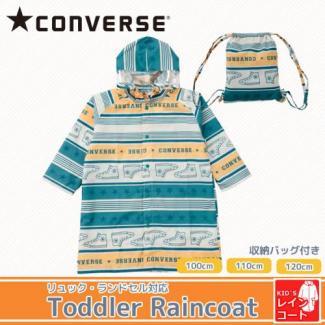 【CONVERSE】キッズ レインコート スターボーダー/オレンジ 100〜120cm