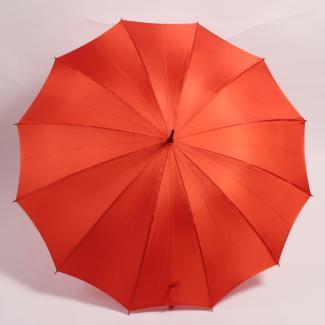 【WAKAO】藤手元 オレンジ レディース雨傘 55cm