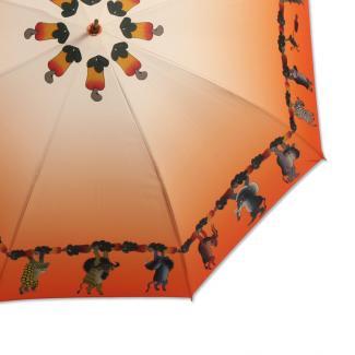 【AFRICAN HANDS×TingaTinga】コラボレーションアンブレラ 60cm オレンジ