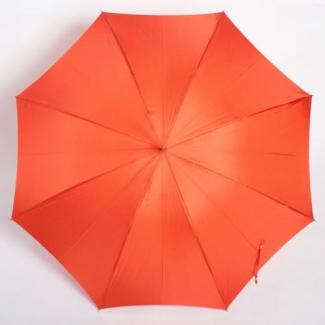 【WAKAO】合板手元 スリム レディース雨傘 オレンジ 55cm