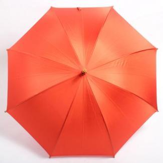 【WAKAO】深張り 寒竹手元 オレンジ レディース雨傘 60cm