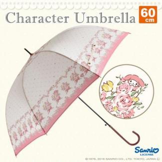 【Sanrio】キャラクターアンブレラ 60cm マイメロディ フラワーピンク [販売価格(税込):2,592 円]