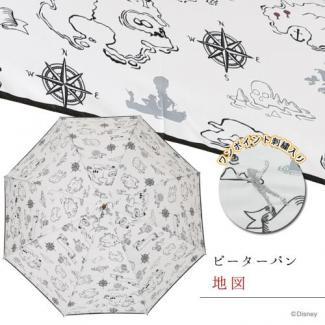 【Disney】キャラクターアンブレラ 60cmジャンプ ピーターパン/地図 [販売価格(税込):2,592 円]