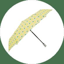 【korko】自動開閉 折りたたみ雨傘 55cm シトロン