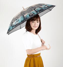 個性的なデザインで傘をコーデの主役に
