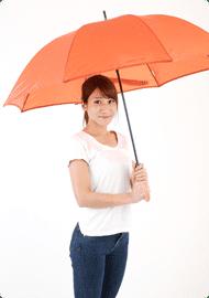 【innovator】Aジャンプ 耐風骨雨傘 65cm 男女兼用 オレンジ