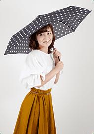 【PEANUTS】Daily Lineシリーズ 折りたたみ 50cm チャーリードット/ブラック