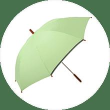 プレーンアンブレラ カラフルチェックシリーズ for kid's 50cm グリーン