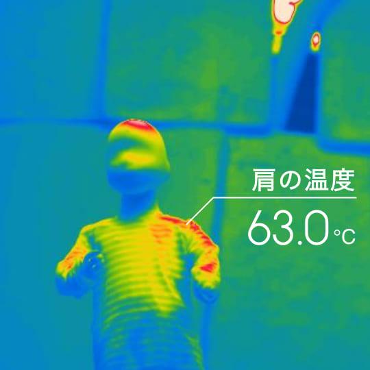 肩の温度 63.0℃