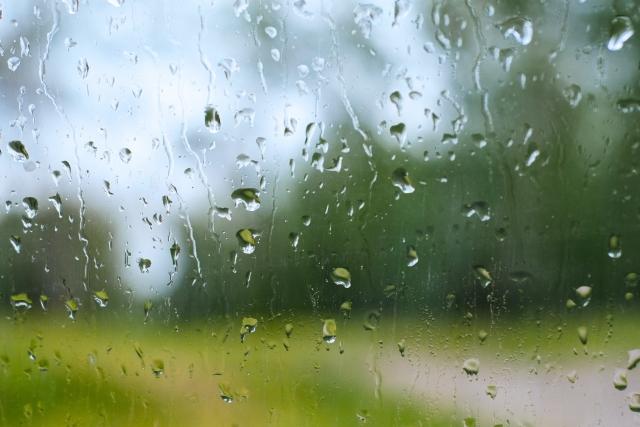 傘に当たる雨