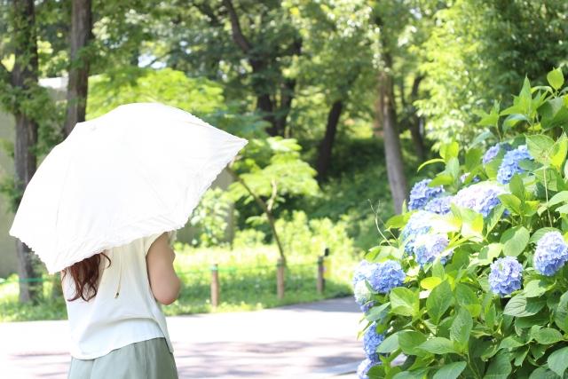 日傘を使う女性
