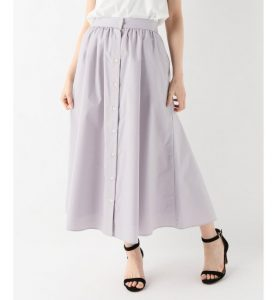 SLOBE IENA/フロントボタンカラースカート