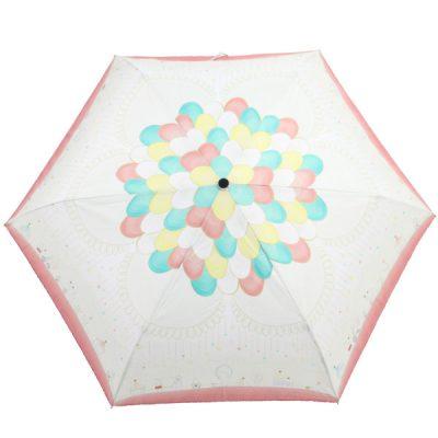 【LINEDROPS】キャンバスアンブレラ 折りたたみ 自動開閉雨傘 55cm サーカス