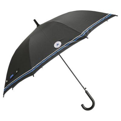 【CONVERSE】キッズ ジャンプ式 無地 ブランド雨傘 58cm(ネイビー)