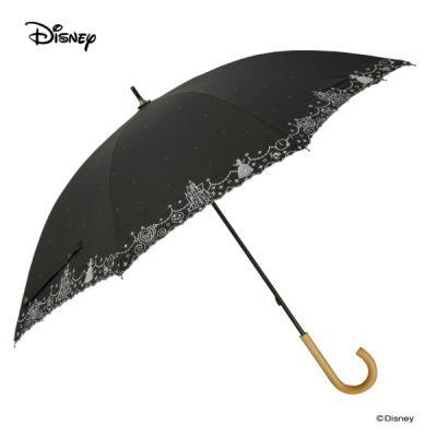 【LINEDROPS】【Disney】晴雨兼用 刺繍日傘 50cm 長傘 シンデレラ