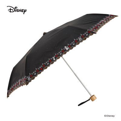 【LINEDROPS】【Disney】晴雨兼用 刺繍日傘 折りたたみ 50cm 白雪姫