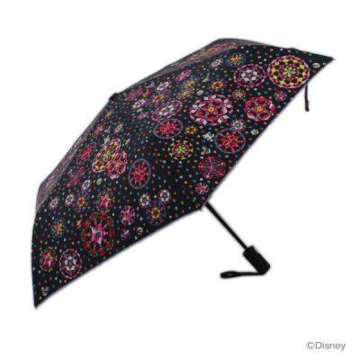 [SALE]【LINEDROPS】キャンバスアンブレラ 折りたたみ 自動開閉雨傘 55cm ミッキー/キラキラ