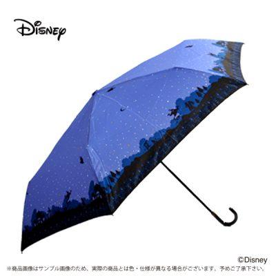 【Disney】キャラクターアンブレラ 折りたたみ 55cm アラジン/夜空