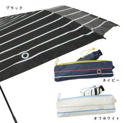 送料込】LINEDROPS×R.O.U限定販売 晴雨兼用折りたたみ傘【マリンな休日】