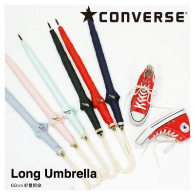 【CONVERSE】レディース ブランド ワンポイント無地 雨傘 60cm