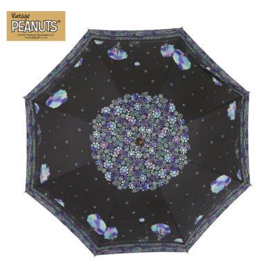 【LINEDROPS】【PEANUTS】キャンバスパラソル 晴雨兼用日傘 50cm スヌーピー/スクラッチアート