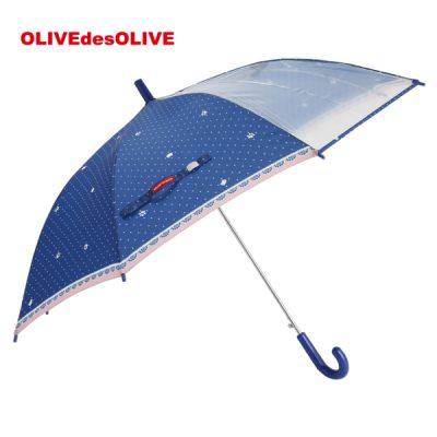 【OLIVE des OLIVE】 ガールズ アンブレラ 雨傘 55cm ドットキャット
