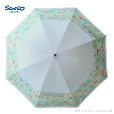 【LINEDROPS】【Sanrio】キャンバスパラソル 日傘 50cm ハローキティ【数量限定】
