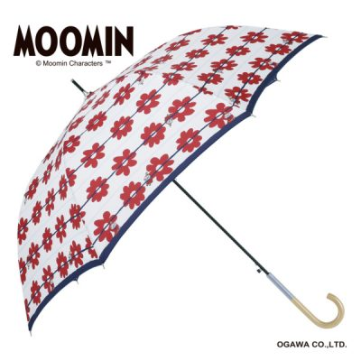 【MOOMIN】キャラクターアンブレラ 60cm ジャンプ リトルミイ/花ボーダー