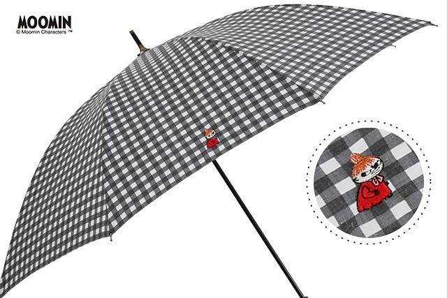 チェックの傘