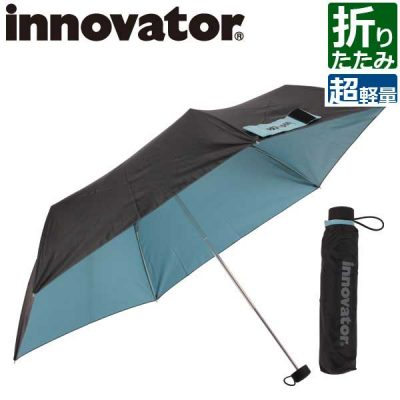 【innovator】ユニセックス・メンズ 超軽量極細 折りたたみ傘 雨晴兼用 50cm 男女兼用