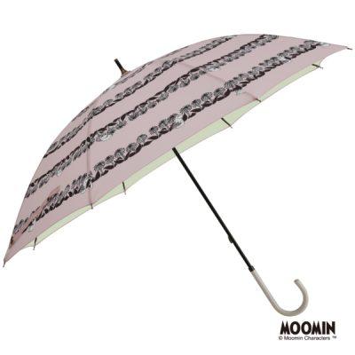 【MOOMIN】キャラクター 晴雨兼用日傘 50cm ムーミン/花畑ボーダー【One's Plus】