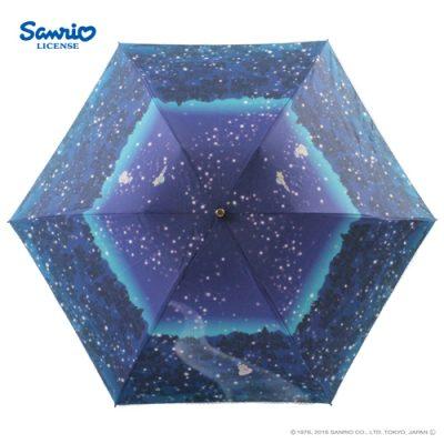 【LINEDROPS】【Sanrio】キャンバスパラソル折りたたみ50cm リトルツインスターズ