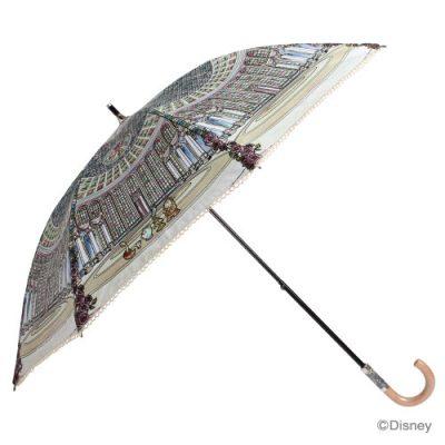 【復刻版】【LINEDROPS】【Disney】キャンバスパラソル 日傘 50cm 美女と野獣