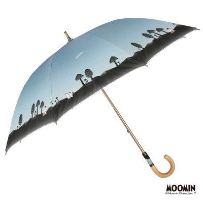 【LINEDROPS】【MOOMIN】キャンバスパラソル 日傘 50cm ムーミン/ムーミン谷の彗星