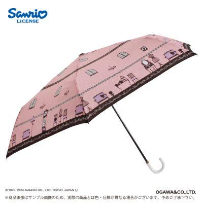 【Sanrio】キャラクターアンブレラ 55cm 折りたたみ傘 ハローキティ(ルーム)