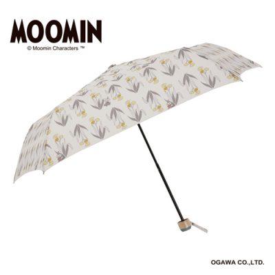 【MOOMIN】キャラクターアンブレラ 折りたたみ 55cm リトルミイ/ふわふわの花