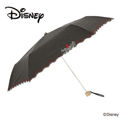 【One's Plus】【Disney】晴雨兼用 刺繍日傘 折りたたみ 50cm ミニーマウス
