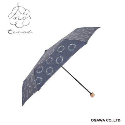 【tenoe(テノエ) NATURAL】レディース 晴雨兼用折りたたみ日傘 50cm すずらんリース