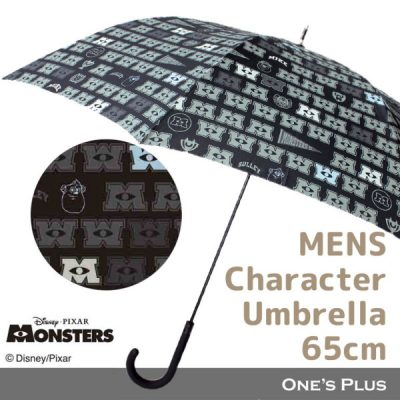 【Disney】ユニセックス・メンズ キャラクター Aジャンプ傘 65cm モンスターズ・ユニバーシティ/ロゴマーク